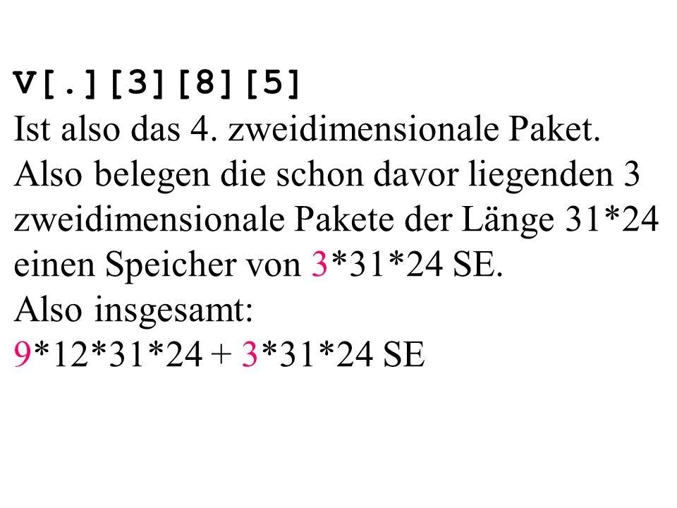V[.][3][8][5] Ist also das 4. zweidimensionale Paket.